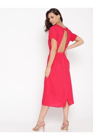 MABISH by Sonal Jain Women Pink Styled Back A-Line Dress