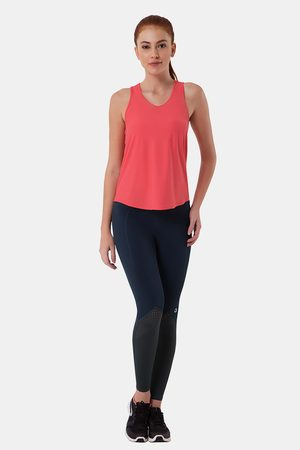 Amante Smooth and Seamless Easy Movement Relaxed Fit Racer Back Tank Top Flamingo