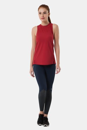 Amante Smooth and Seamless Easy Movement Relaxed Fit Tank Top Red