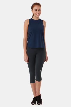Amante Smooth and Seamless Easy Movement Relaxed Fit Tank Top Blue