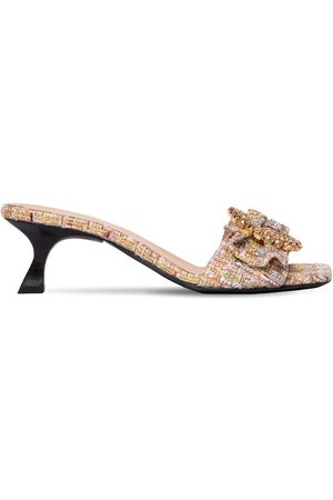 BROCK COLLECTION 50mm Embellished Tweed Mules