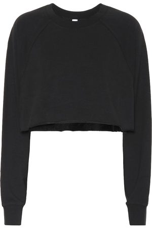 alo Women Jumpers - Double Take cotton-blend sweater