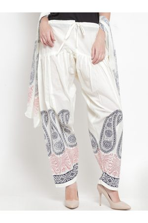 Clora Creation Women Off-White Printed Salwar & Dupatta Set