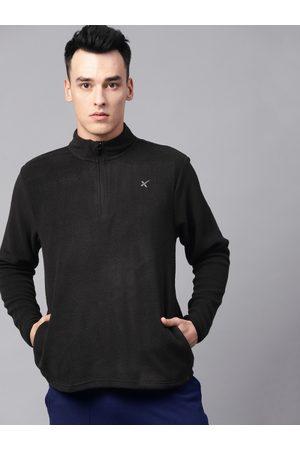 HRX Men Black Solid Sweatshirt