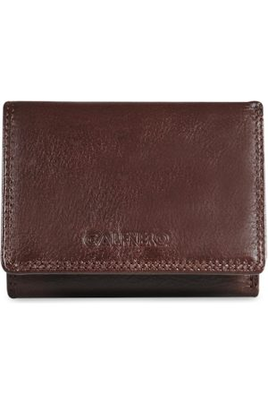 CALFNERO Men Brown Solid RFID Protected Genuine Leather Three Fold Wallet