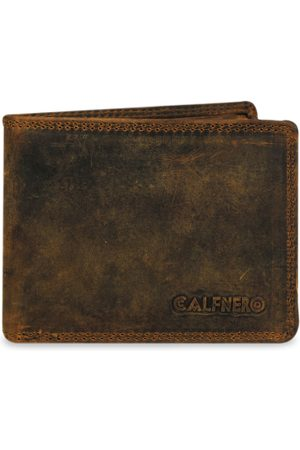 CALFNERO Men Brown Solid Genuine Leather Two Fold Wallet