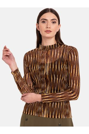 Kazo Women Brown Printed Top
