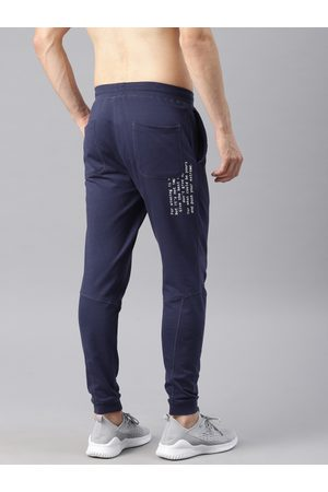 HRX Men Navy Blue Solid Slim Fit Jogger Lifestyle Track Pants
