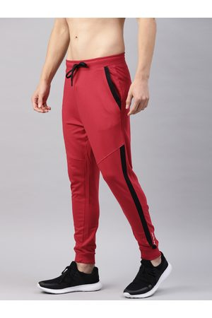 HRX Men Red Solid Lifestyle Track Pants