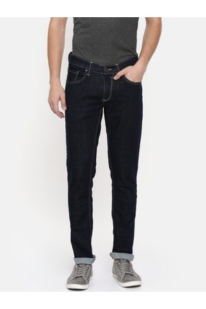 SPYKAR Men Navy Blue Skinny Fit Low-Rise Clean Look Stretchable Jeans