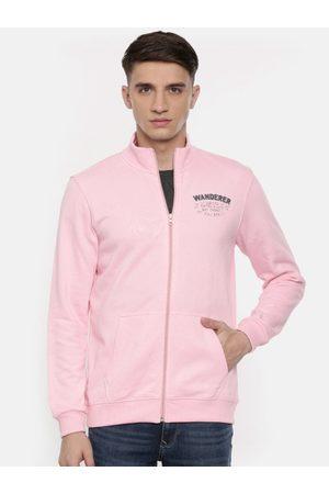 SPYKAR Men Pink Solid Sweatshirt