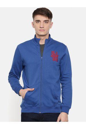 SPYKAR Men Blue Solid Sweatshirt