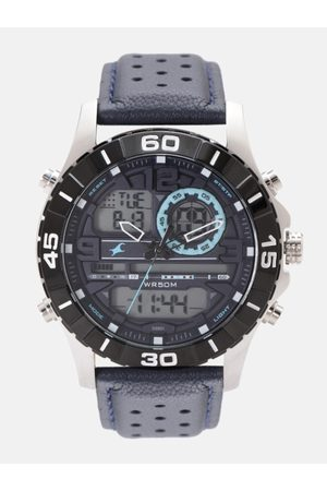 Fastrack Men Grey Analogue and Digital Watch 38035SL02