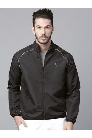 HRX Men Black Running Solid Jacket
