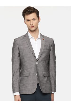 Ralph Lauren Men Grey Solid Single-Breasted Slim Fit Smart Casual Blazer