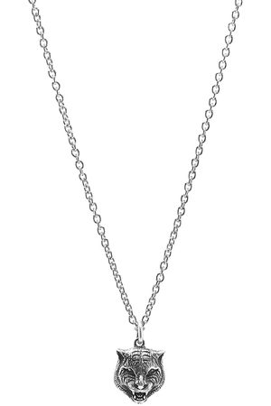 Gucci Men Necklaces - Gucci Feline Head Pendant Necklace