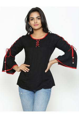 Yash Gallery Women Black Solid Top