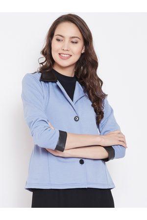 Belle Women Lavender Solid Tailored Jacket