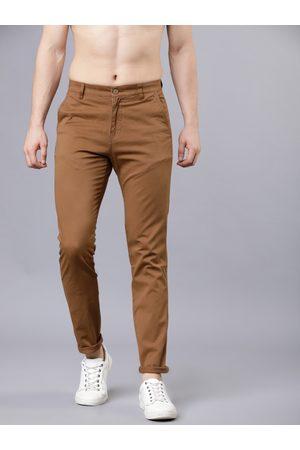 Highlander Men Slim Fit Solid Regular Trousers