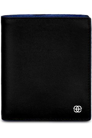 Eske Men Black Solid Leather Two Fold Wallet