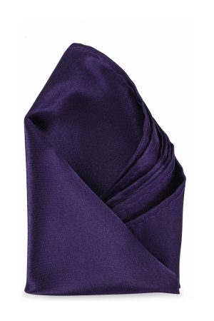 Calvadoss Men Purple Solid Pocket Square