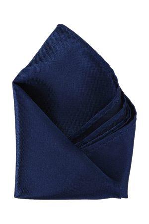 Calvadoss Men Navy Blue Solid Pocket Square