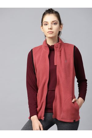 HRX Women Brick Red Solid Sporty Jacket