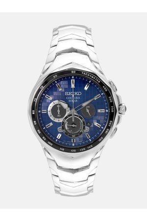 Seiko Men Blue Solar Chronograph Tachymeter Watch SSC749P1