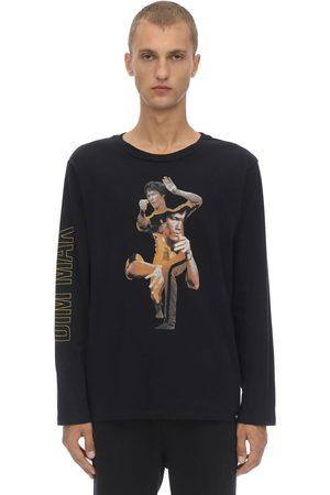 DIM MAK COLLECTION Men Long Sleeve - Death Game Collage Cotton Jersey T-shirt