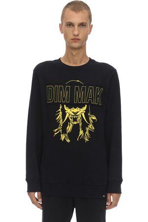 DIM MAK COLLECTION Men Sweatshirts - Dim Mak Demon Mask Cotton Sweatshirt