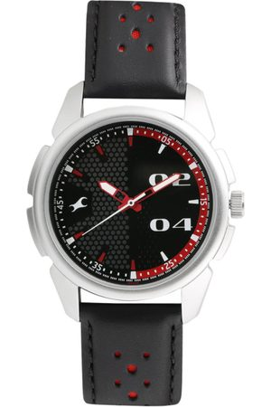 Fastrack Men Black Leather Analogue Watch 3124SL05