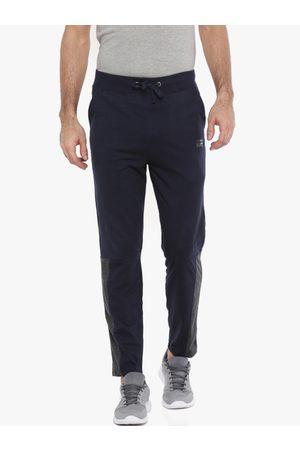 Force NXT Men Navy Blue Solid Slim-Fit Track Pants