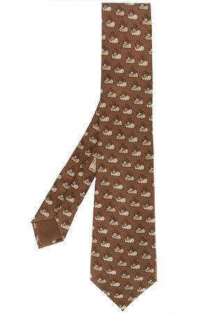 Hermès 2000s ship print tie