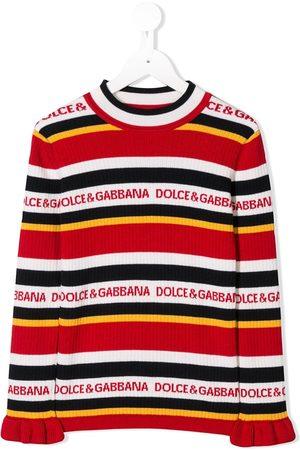 Dolce & Gabbana Girls Jumpers - Striped logo jumper