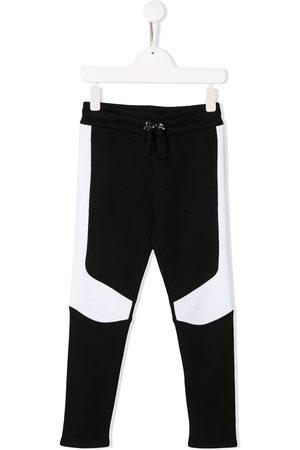 Balmain Two-tone drawstring track pants