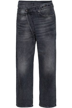 R13 Leyton crossover-front jeans
