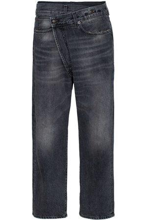 R13 Women Boyfriend - Leyton crossover-front jeans