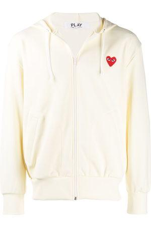 Comme des Garçons Men Hoodies - Heart logo zipped hoodie