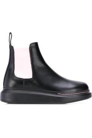 Alexander McQueen Women Boots - Contrast panels chelsea boots