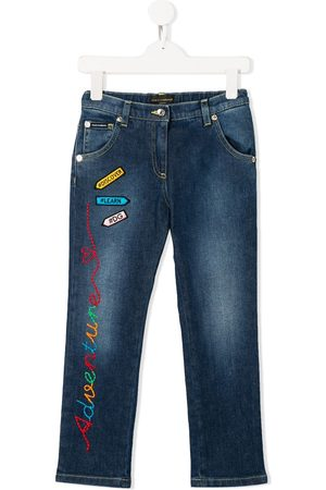 Dolce & Gabbana Embroidered patch jeans