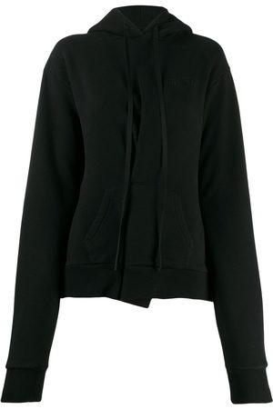 Unravel Project Asymmetric pleat hoodie
