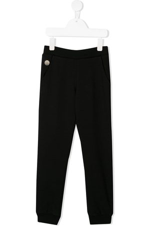Philipp Plein Heart print studded track pants