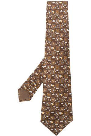 Hermès Men Neckties - 2000s pre-owned printed tie
