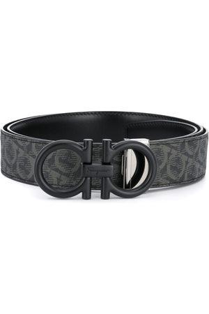 Salvatore Ferragamo Gancini print buckle belt