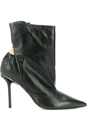 Nº21 Ruched ankle boots