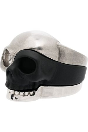 Alexander McQueen Men Rings - Three-piece Skull motif ring