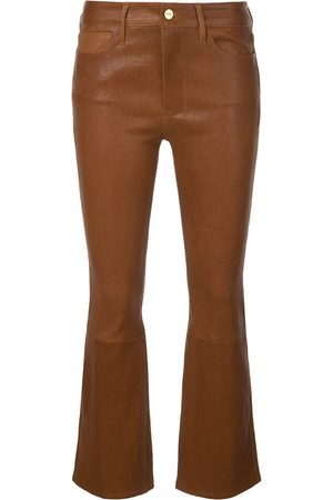 Frame Le Crop leather trousers