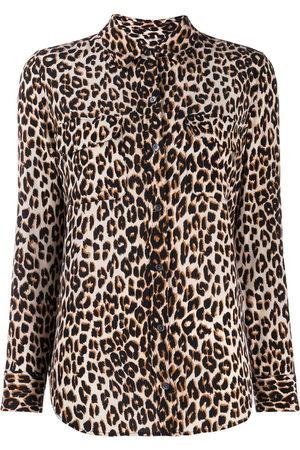 Equipment Leopard print shirt
