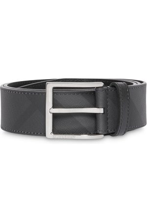 Burberry Men Belts - London Check and Leather Belt