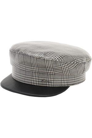 DON Women Hats - Check Coated Wool Sailor Cap